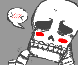 Blushing skeleton.