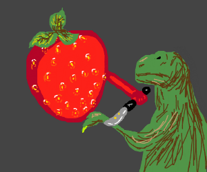 strawberry chopping of trex arm
