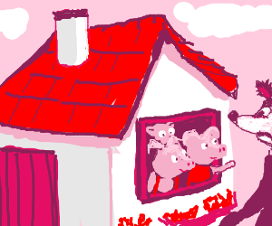 """Three Little Pigs Tell The Big Bad Wolf """"NO"""""""