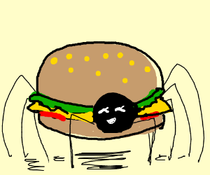 cheeseburger spider
