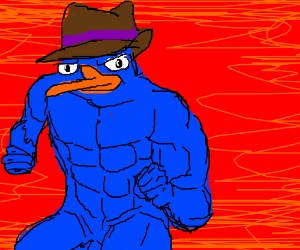 buff perry the platypus drawing by art with shane drawception