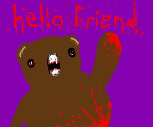 Bear has blood