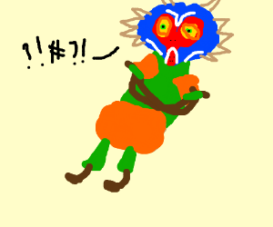 Skull Kid from Zelda spouts nonsense