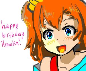 Happy birthday, Honoka! Yaaay!