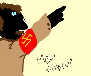 Black Hitler leading a revolution