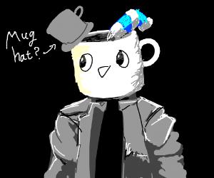 Mug man with a mug hat