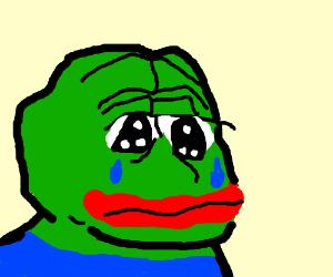 Pepe is very sad