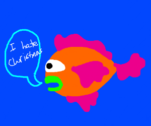 cyclops fish hates christmas