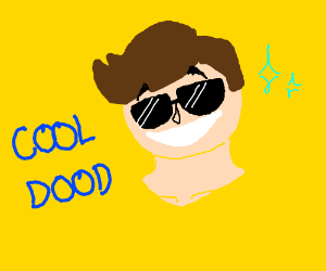 Cool dood with brown hair and shades