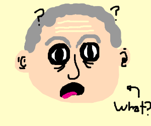 confused old man