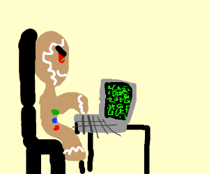 ginger dude hacks a computer