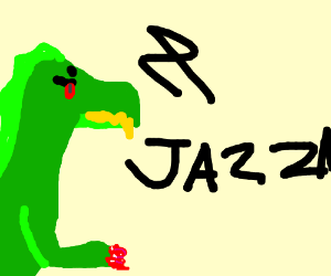 Wierd dragon with polished nails...also jazza.