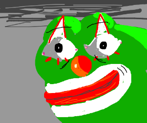 pepe the frog dressed as clown