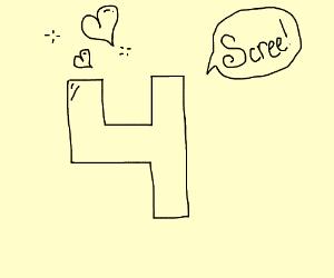 """4 is in love. """"SCREEEEE,"""" says 4."""