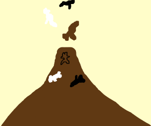 Volcano that shoots out Bears instead of Lava