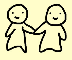 2 People Holding Hands Drawing By Christine W Drawception