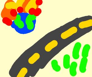 world demolished to make galatic freeway