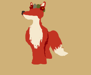 Fox with a flowercrown