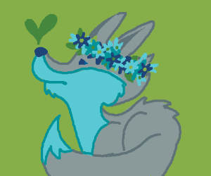 Fox with Flower Crown