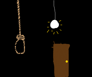 a noose that hung itself