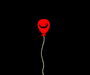 Happy red balloon