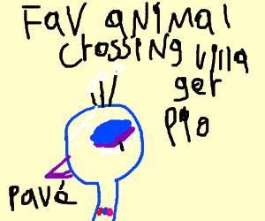 Fav Animal Crossing Villager (pio?)