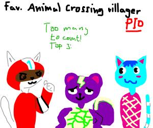Favortie Animal Crossing Villager PIO