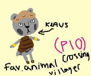 fav animal crossing villager PIO (blathers)