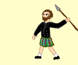 spearman in a kilt