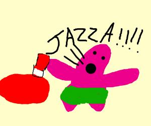 Patrick yelling at ketchup. Also, Jazza