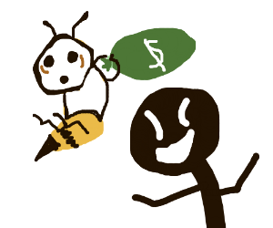 Blackman lets bee mime theif free.