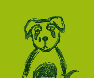 Sad dog - Drawception