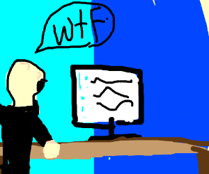 Person WTF'ing at Computer