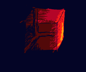 Confusing red grid-Cube