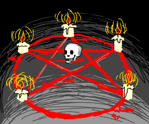 Satanic ritual pentagram