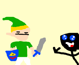 Link and some anime guy