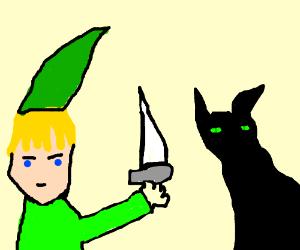 Link fighting a black guy