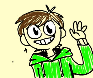 character from eddsworld smiling