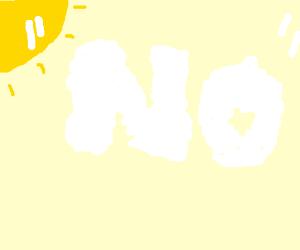 """The """"NO"""" cloud"""
