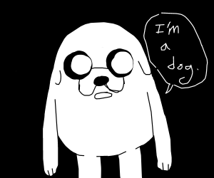jake the dog turns white and claims hes a dog