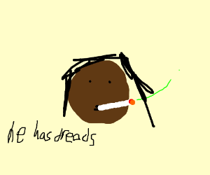 nibba with some ugly dreads