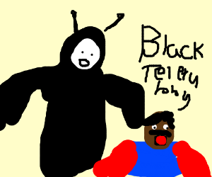 the rarely seen black TeleTubby watches Cosby