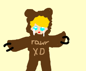 Gay blond boy and bear