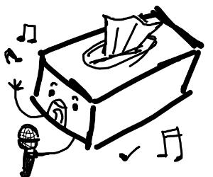 Singing tissue box
