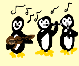 band of penguins