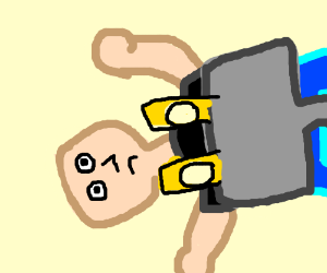 sad person being crushed by electric plug
