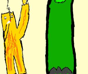 Yellow Monkey Smokes with Brontosaurus