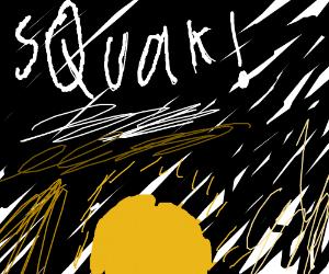 bird SQUAKing at the break of dawn