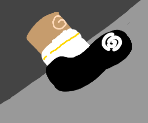 One foot w/ shoe and sock