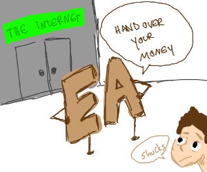 EA charges money for  internet access